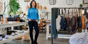 2021 retail trends shown in an entrepreneur's store
